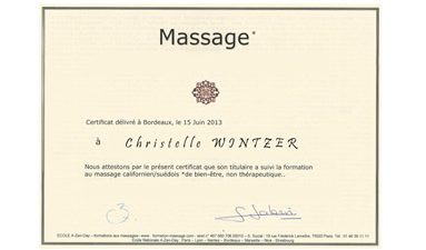 Certificat Massage ayurvédique