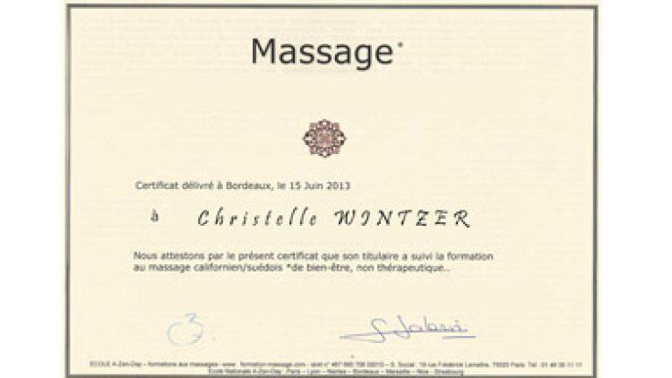 Certificat Réflexologie Plantaire